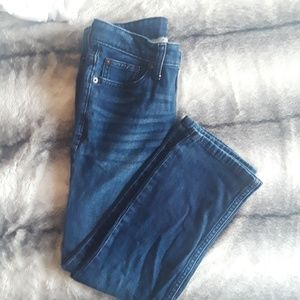 Girls Cat & Jack dark blue straight jeans sz 8